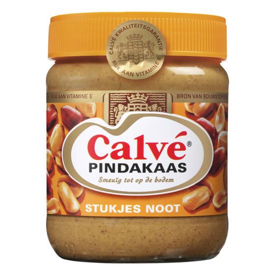 Calve Pindakaas Erdnussbutter mit Stückchen Nuss 350g