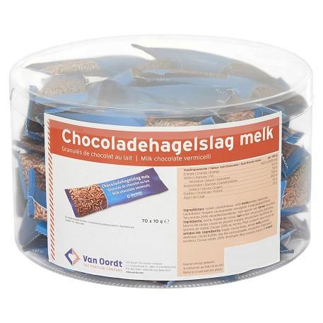 Van Oordt Streusel Schoko Milch 70x10G
