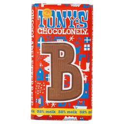 Tony's Buchstabenriegel Milchschokolade B