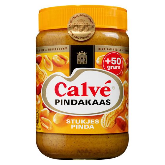 Calve Pindakaas Erdnussbutter mit Stückchen Nuss 650g