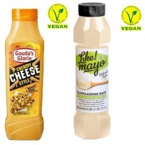 Vegan Remia Like! Mayo 800ml und Vegan Creamy cheese style gouda's glorie 850ml