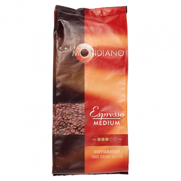 Espresso bohnen medium mondiano 1KG