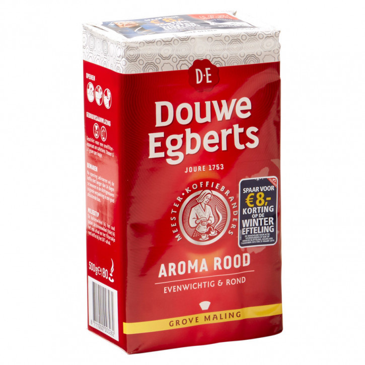 Douwe egberts Koffie aroma rood 500gr grof