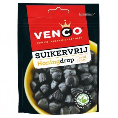 Vegan Venco Suikervrije Honing drop 100g