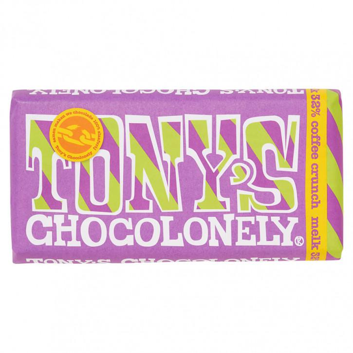 Tony's Vollmilchschokolade kaffee crunch180 g Fairtrade