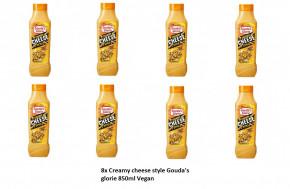 8x Creamy cheese style gouda's glorie 850ml Vegan